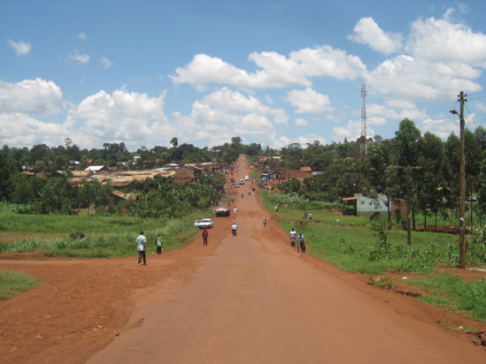 """The road leading into Wakitaka, which means """"much soil""""."""