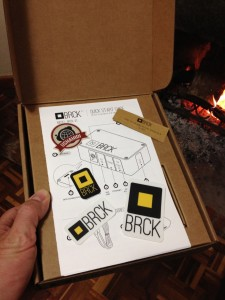 The open BRCK box. User guide and stickers! Nom nom!
