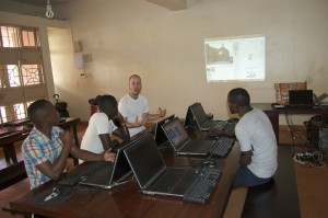 Thanks James for the projector, and laptops!