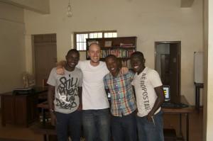 Matheus, Linz, Latifu and Josh in the CTC.