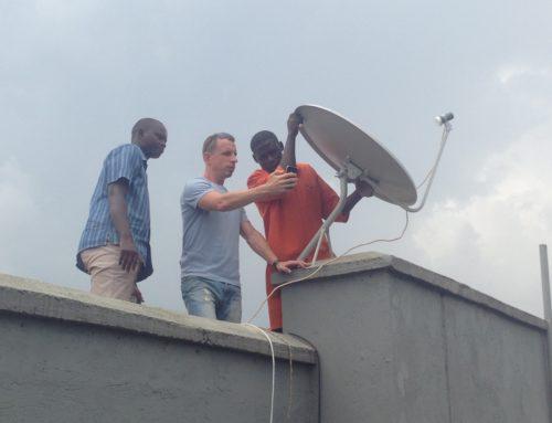 High-contrast, high-tech: Uganda's first Outernet node!