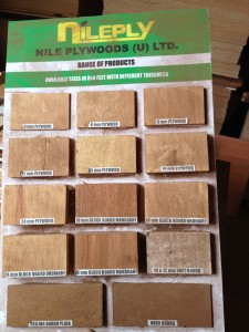 Nile Ply's selection of plywood.