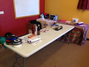 LittleBits and Edison table