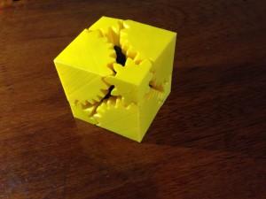 The cube gear, as a cube