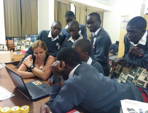 "The birth of the ""Jinja Robotics"" team at the HFC Uganda hackerspace!"