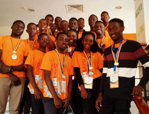 Our hackerspace robotics team take gold medals in kampala uganda!
